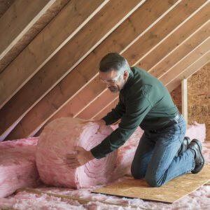Owens Corning  Eco Touch  15 in. W x 25 ft. L 30  Unfaced  Fiberglass  Insulation  Roll  31.25 sq. f