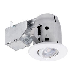 Globe Electric LED Recessed Lighting Kit White 3 in. W Metal LED Recessed Downlight 50 watt