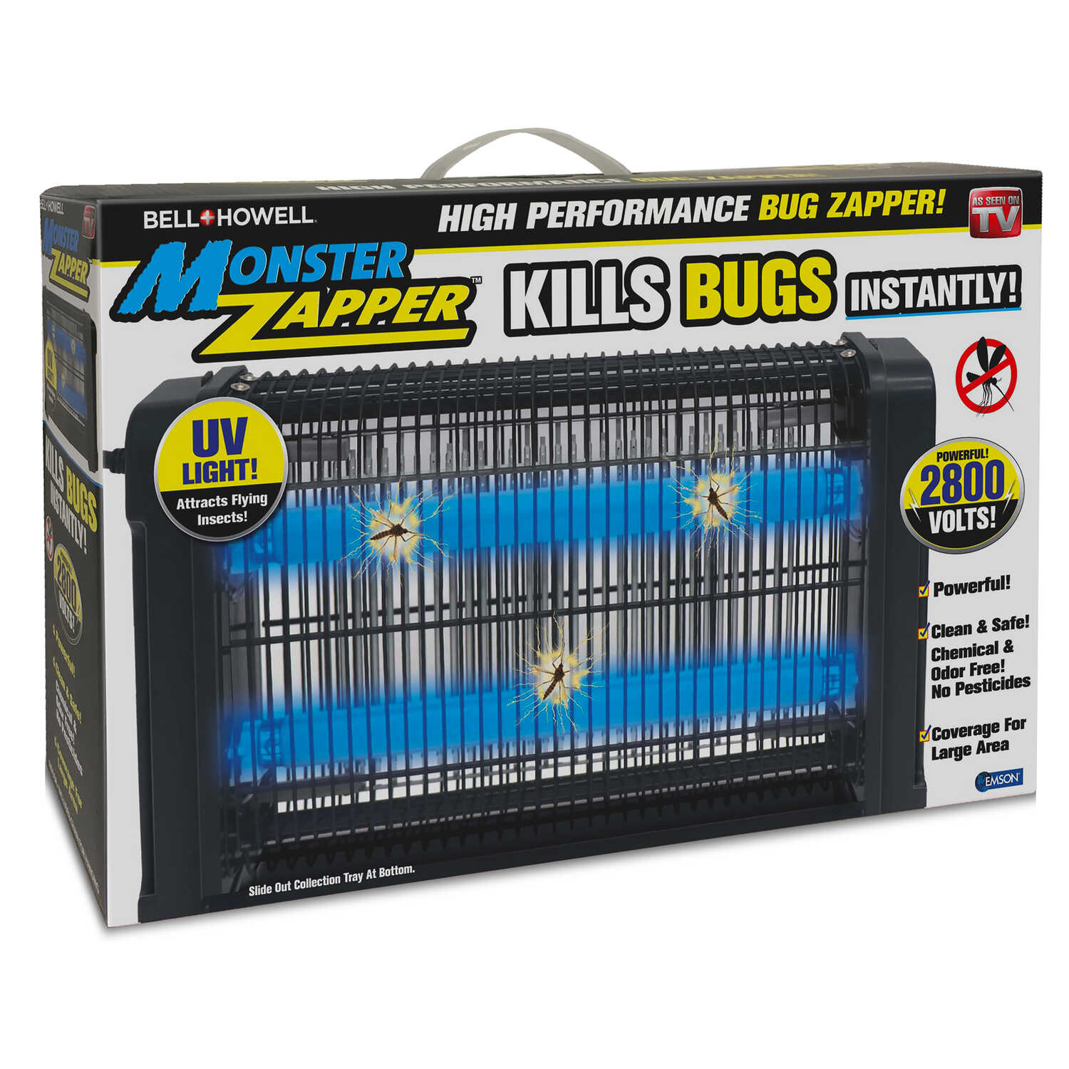 Bell+Howell  As Seen On TV  Indoor  Insect And Mosquito Zapper  3000 sq. ft. 20 watts