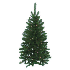 J & J Seasonal  Prelit Multicolored  4 ft. Artificial Tree  100 lights 235 tips Vienna