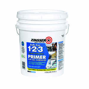 Zinsser  Bulls Eye 123  White  Primer and Sealer  For All Surfaces 5 gal.