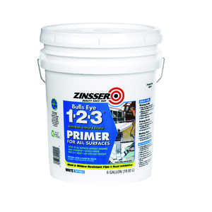Zinsser  Bulls Eye 123  Primer and Sealer  For All Surfaces 5 gal. White