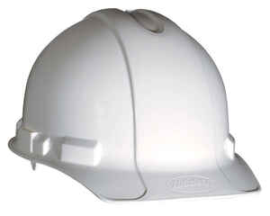 3M  Polyethylene  Hard Hat  White  1 pk