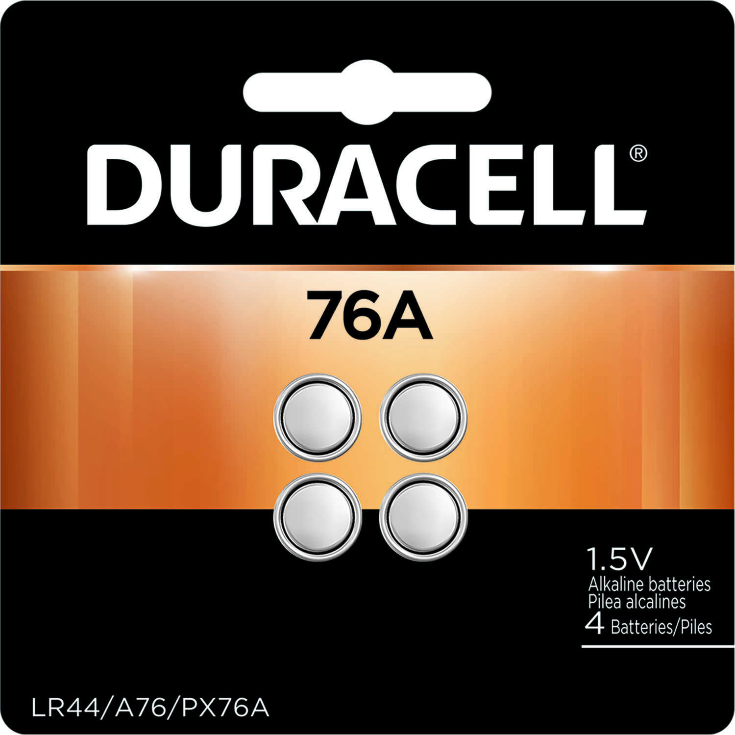 Duracell  76A  1.5 volt Alkaline  4 pk Medical Battery
