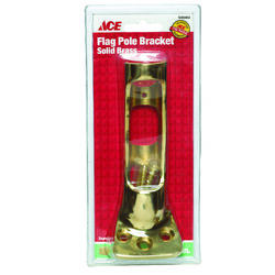 Ace 9 in. L Solid Brass Flag Pole Bracket Bright