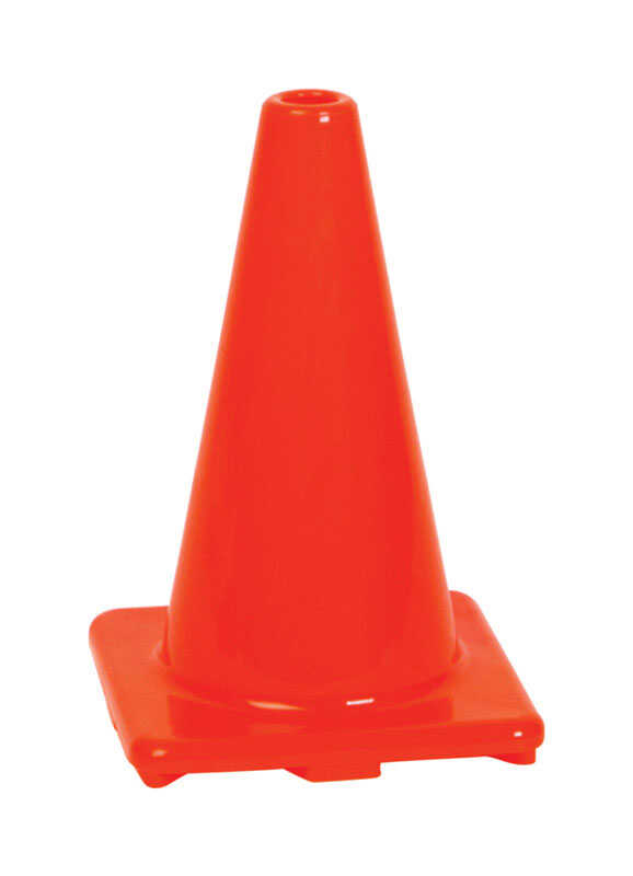 Hy-Ko  12 in. Round  Orange  Safety Cone  1 pk