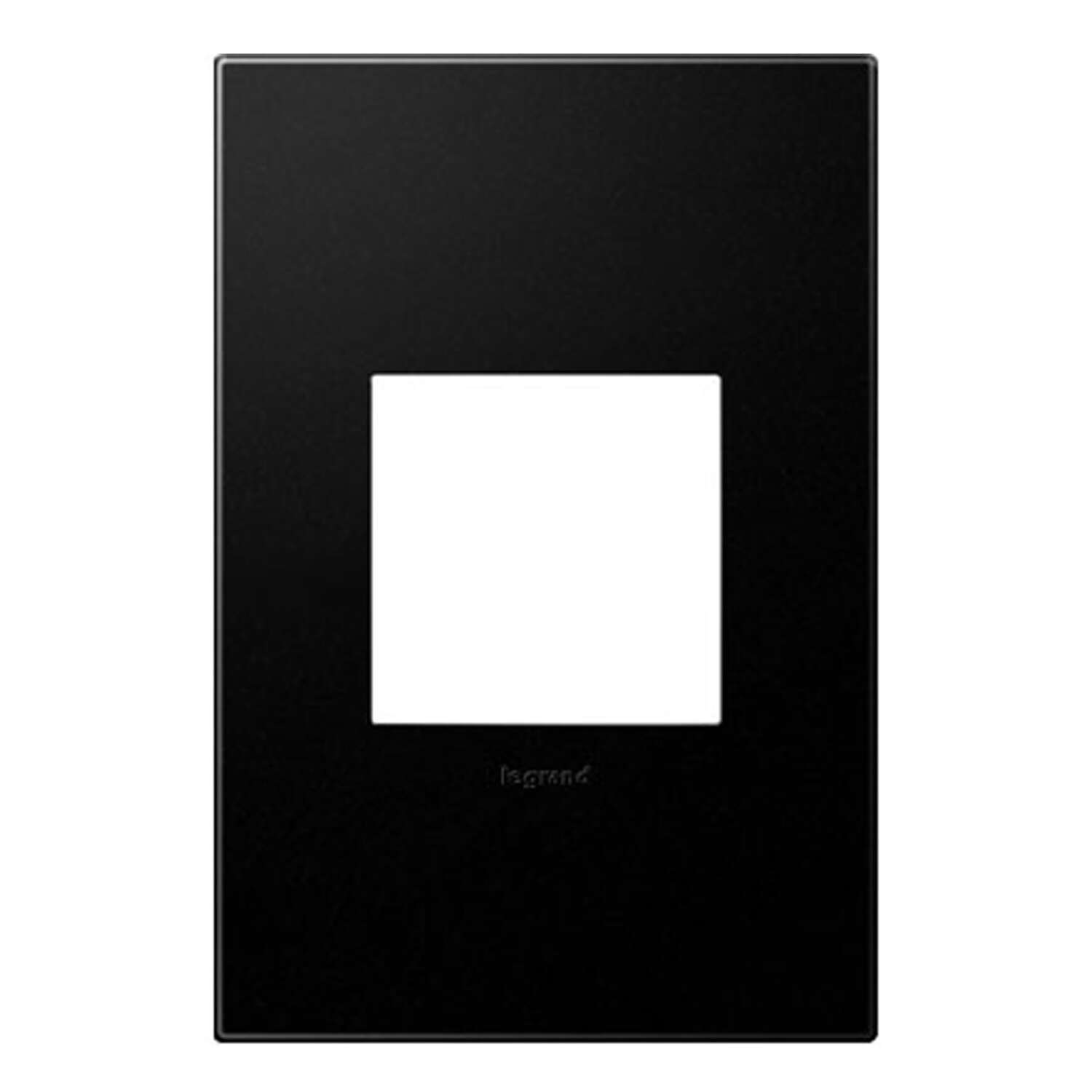 Legrand  Adorne  Graphite  1 gang Polycarbonate  Toggle  Screwless Wall Plate  1 each