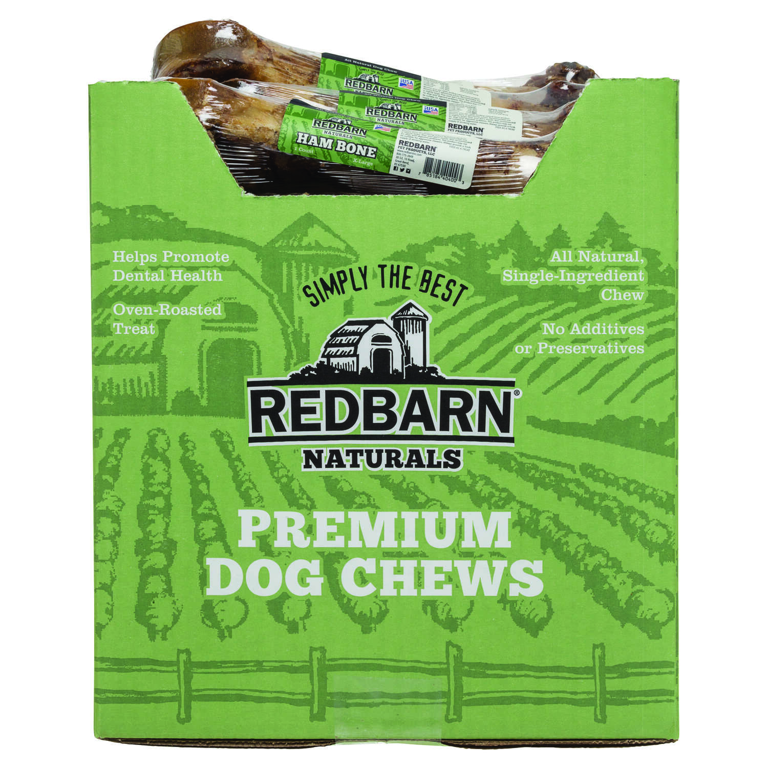 Redbarn  Naturals  Pork Ham Bone  Dog  Grain Free Bone  1 pk