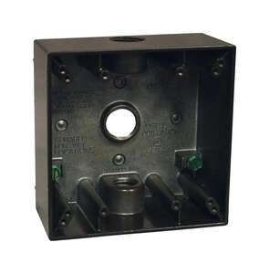 Sigma  4-1/2 in. Aluminum  2 Gang  Outlet Box  Bronze  Square