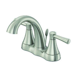 OakBrook  Modena  Two Handle  Lavatory Pop-Up Faucet  4 in. Brushed Nickel