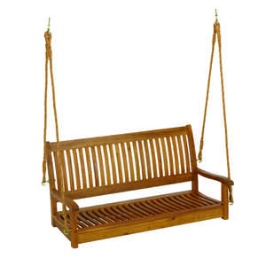 Living Accents  Nyatoh  Wood  Porch Swing