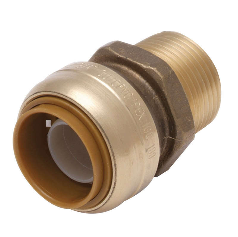 SharkBite 1/2 in. Push x 3/4 in. Dia. MPT Brass Connector