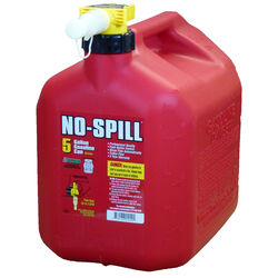 No-Spill  Plastic  Gas Can  5 gal.