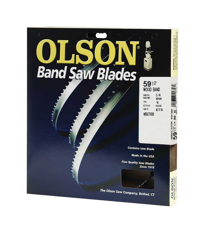 Olson  59.5 in. L x 0.01 in. thick  x 0.3 in. W Carbon Steel  Band Saw Blade  14 TPI Regular teeth 1