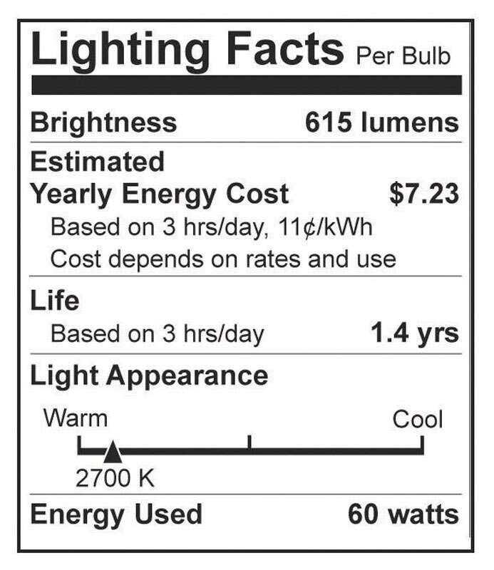 Westinghouse  60 watts B11  Incandescent Bulb  570 lumens White  Decorative  2 pk