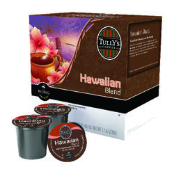 Keurig  Tullys  Hawaiian Blend  Coffee K-Cups  18 pk