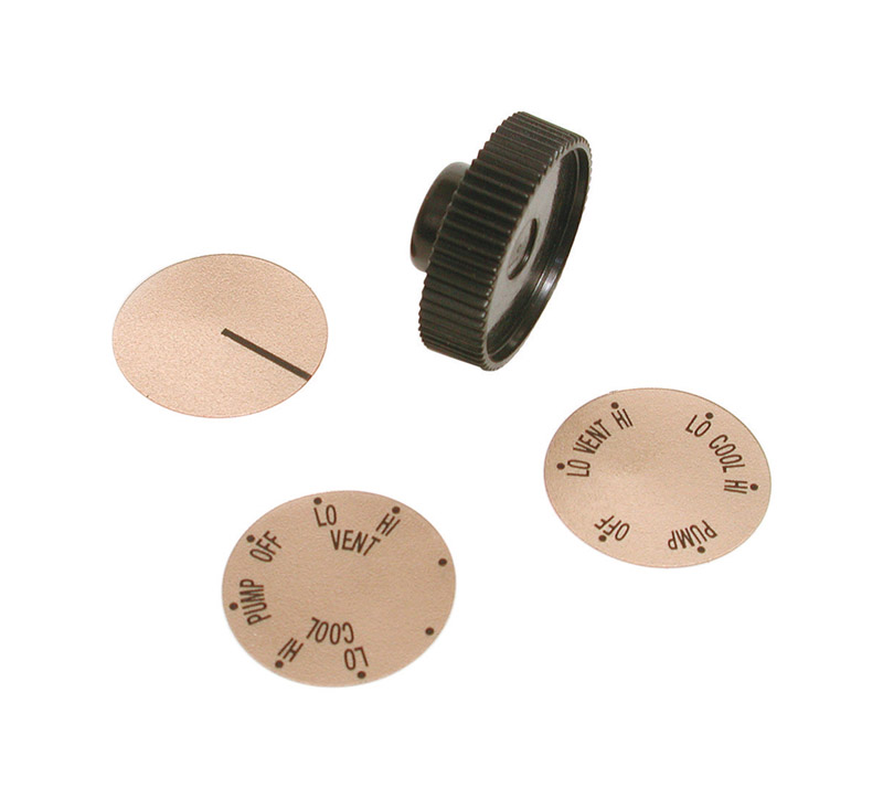 Dial  Plastic  Medium Shaft Knob Kit  Black