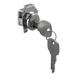 Prime-Line  Brushed Nickel  Steel  Mailbox Lock