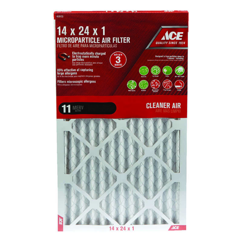 Ace  14 in. W x 24 in. H x 1 in. D Pleated  Pleated Air Filter