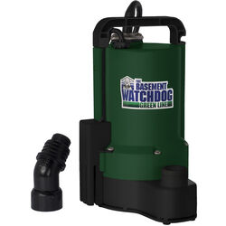 Basement Watchdog  1/3 hp 2200 gph Thermoplastic  Electronic Switch  AC  Utility Pump