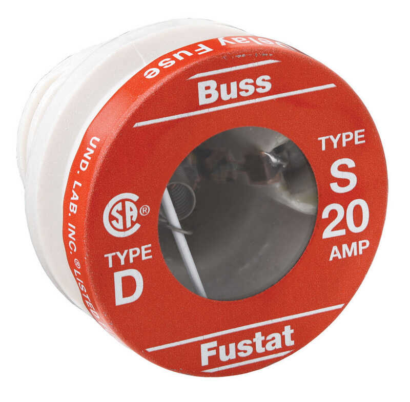 Bussmann  20 amps 125 volts Plastic  Dual Element Tamper Proof Plug  4 pk