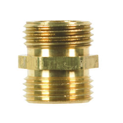 JMF  Brass  3/4 in. Dia. x 3/4 in. Dia. Hose Adapter  1 pk Yellow