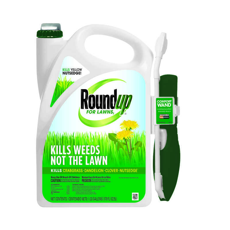 Roundup  For Lawns  RTU Liquid  Weed Killer  1 gal.