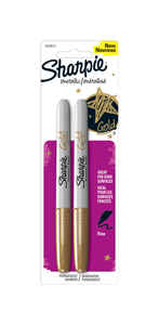 Sharpie  Metallic  Gold  Fine Tip  Permanent Marker  2 pk