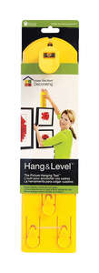Hang and Level  Yellow  Hang and Level  10 lb. 1 pk Picture Hanger