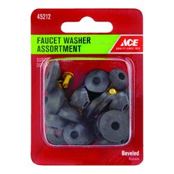 Ace  Assorted in. Dia. Rubber  Faucet Washer  1 pk