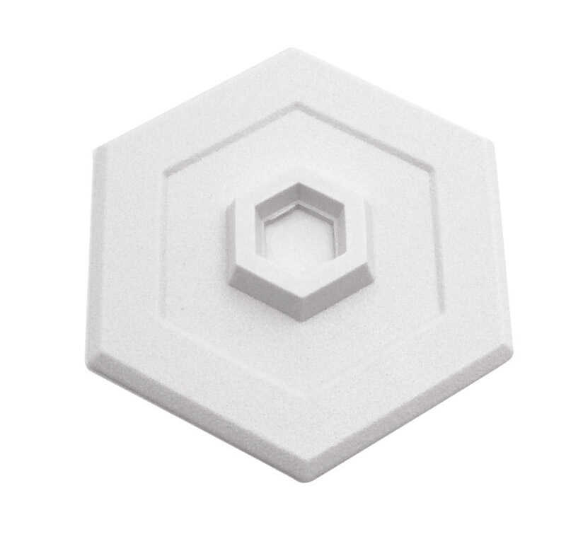 Prime-Line  5 in. H x 5/8 in. W x 5 in. L Vinyl  White  Wall Protector  Mounts to wall