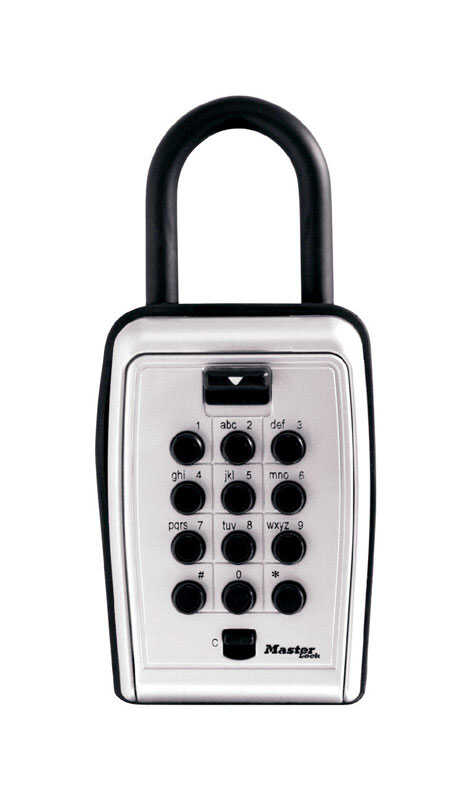 Master Lock  0.004 cu. ft. Combination Lock  Gray  Portable Lock Box