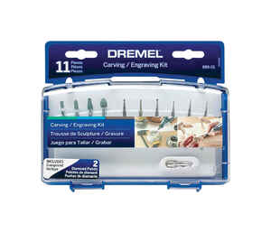 Dremel  7 in   x 7 in. L Plastic  Accessory Kit  11 pk