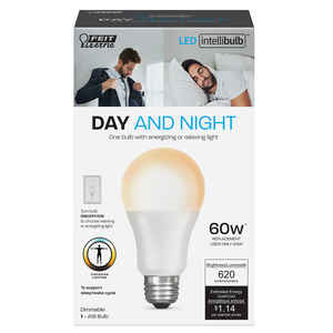 Feit Electric  Intellibulb  A19  E26 (Medium)  LED Smart Bulb  Color Changing  60 Watt Equivalence 1