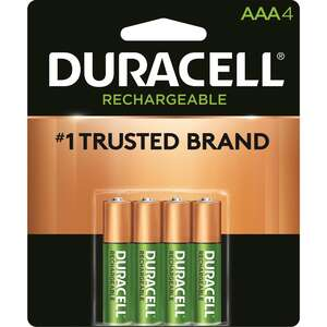 Duracell  Rechargeable  NiMH  AAA  DCNLAAA4BCD  4 pk Rechargeable Battery