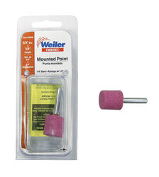 Weiler  Vortec  3/4 in. Dia. x 0.25 in. L Aluminum Oxide  Stem Mounted Point  Cylinder  47000 rpm 1
