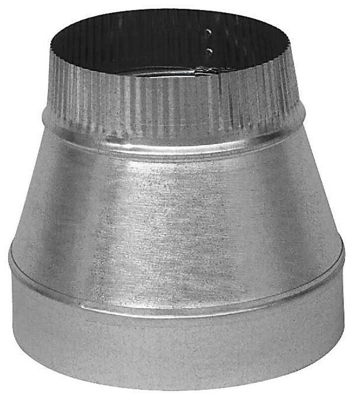 Imperial  6 in. Dia. x 4 in. Dia. Galvanized Steel  Stove Pipe Reducer