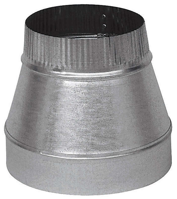 Imperial  6 in. Dia. x 4 in. Dia. Galvanized Steel  Furnace Pipe Reducer