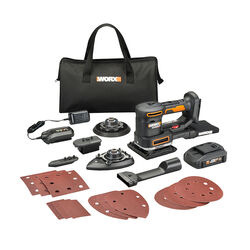 Worx Sandeck 5-in-1 20 volt Cordless Multi-Sander Kit (Battery & Charger)