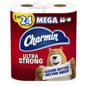 Charmin  Ultra Strong  Toilet Paper  6 roll 286 sheet 186 ft.