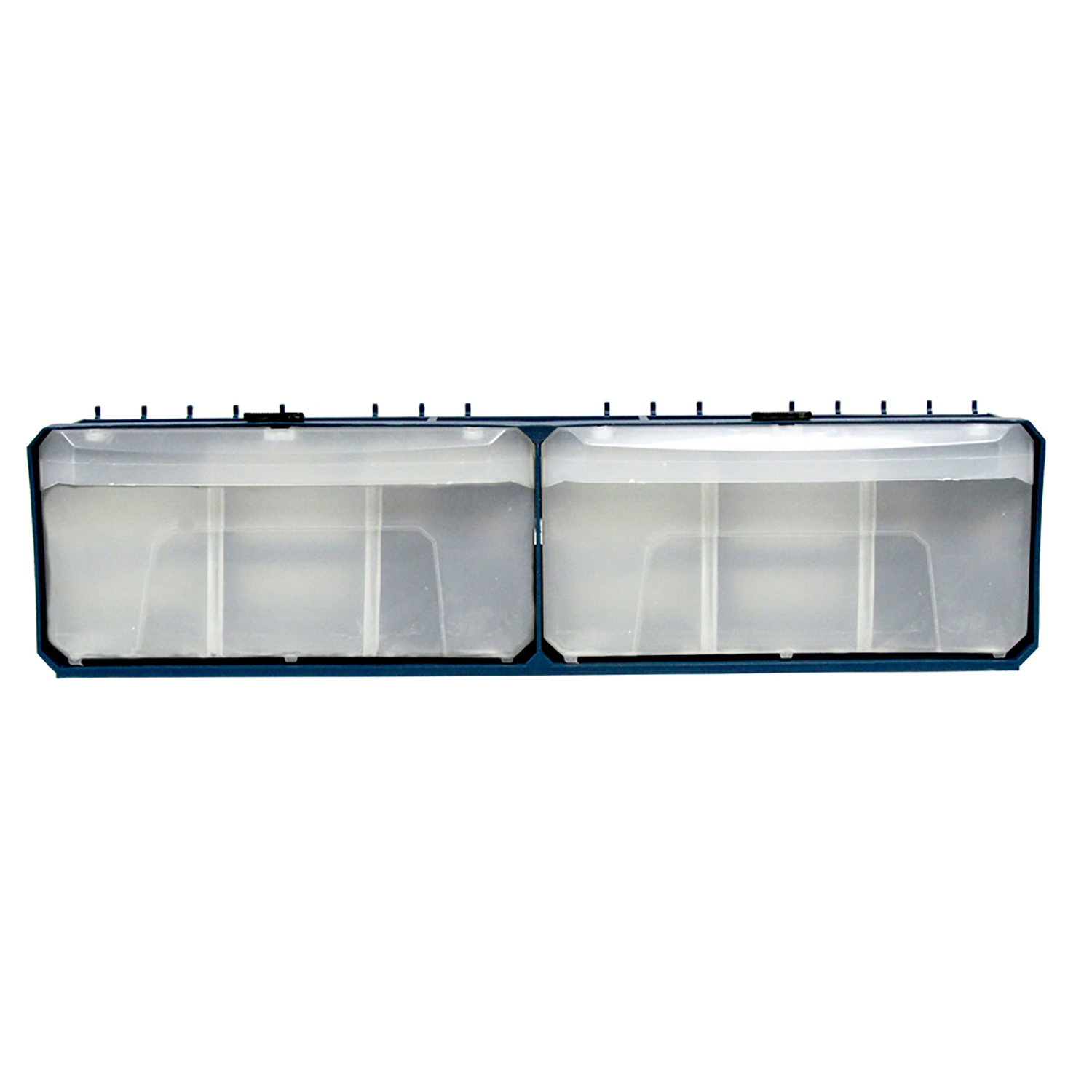 Crawford  Blue  Polypropylene  4 in. Multi-Bin Parts Organizer  1 pk