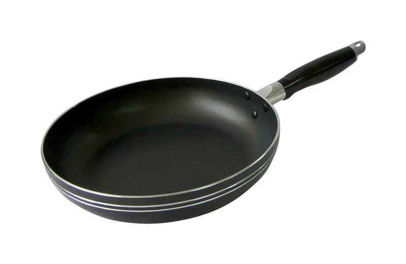 Bene Casa  Aluminum  Fry Pan  12 in. Black