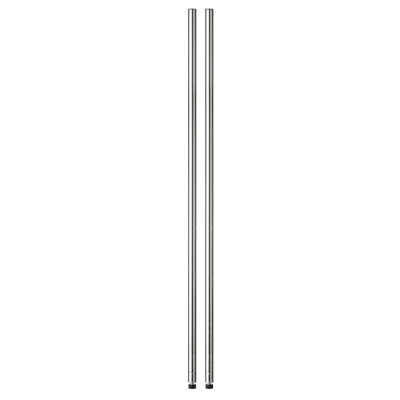 Honey Can Do  72 in. H x 1 in. D x 1 in. W Steel  Shelf Pole with Leg Levelers
