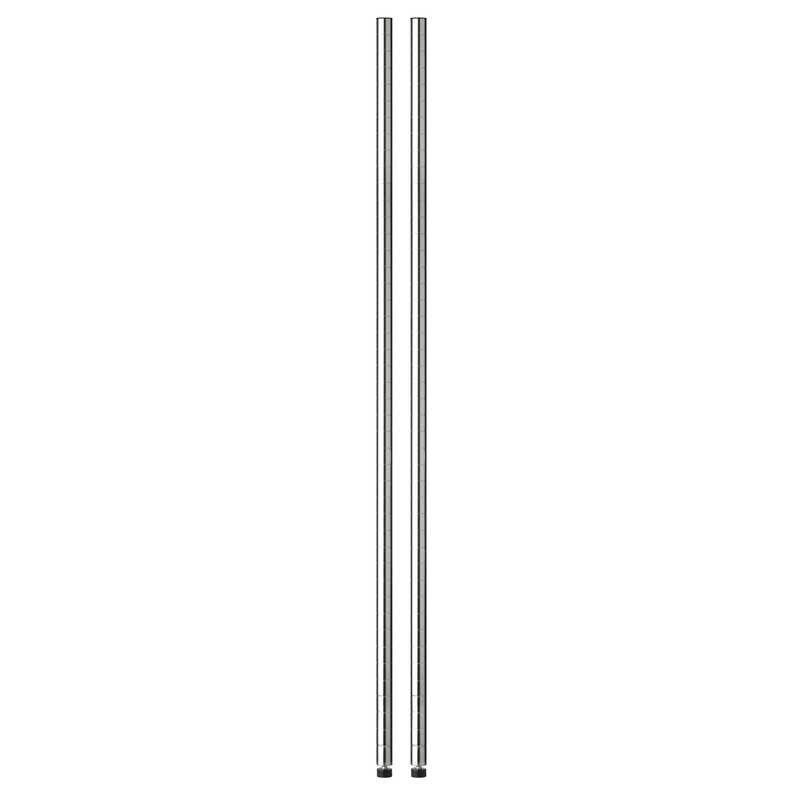Honey Can Do  72 in. H x 1 in. W x 1 in. D Steel  Shelf Pole with Leg Levelers  Silver