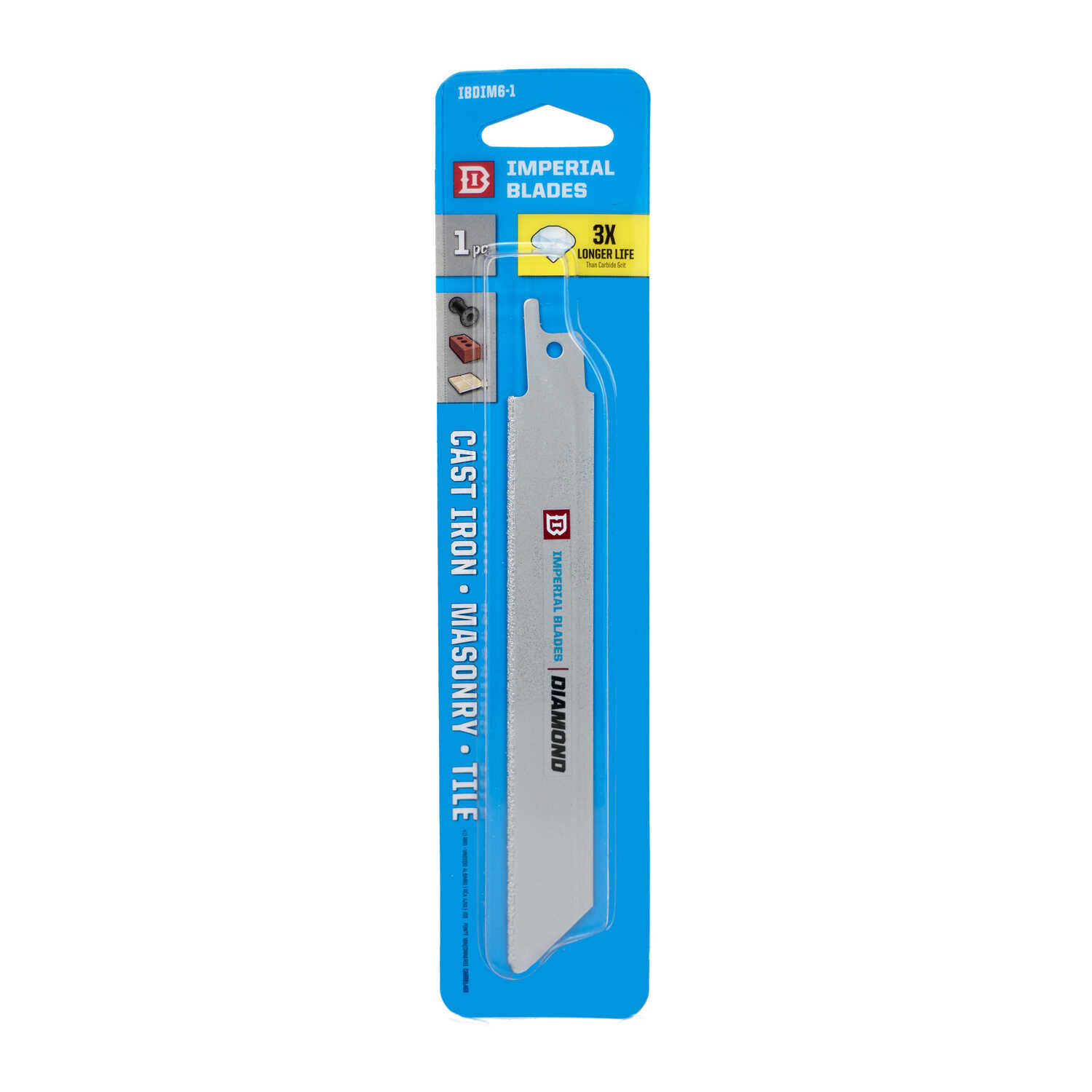 Imperial Blades  6 in. Diamond Grit  Reciprocating Saw Blade  1 pk