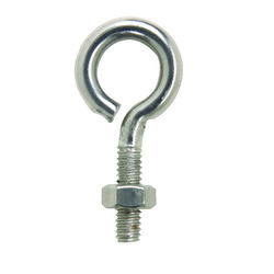 Hampton  1/4 in.  x 2 in. L Stainless  Stainless Steel  Eyebolt  Nut Included