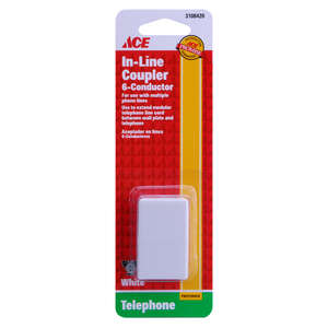 Ace  1  0 ft. L For Universal Modular Telephone Line Cable  White