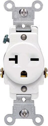 Leviton  20 amps 250 volt Single  White  Outlet  6-20R  1 pk