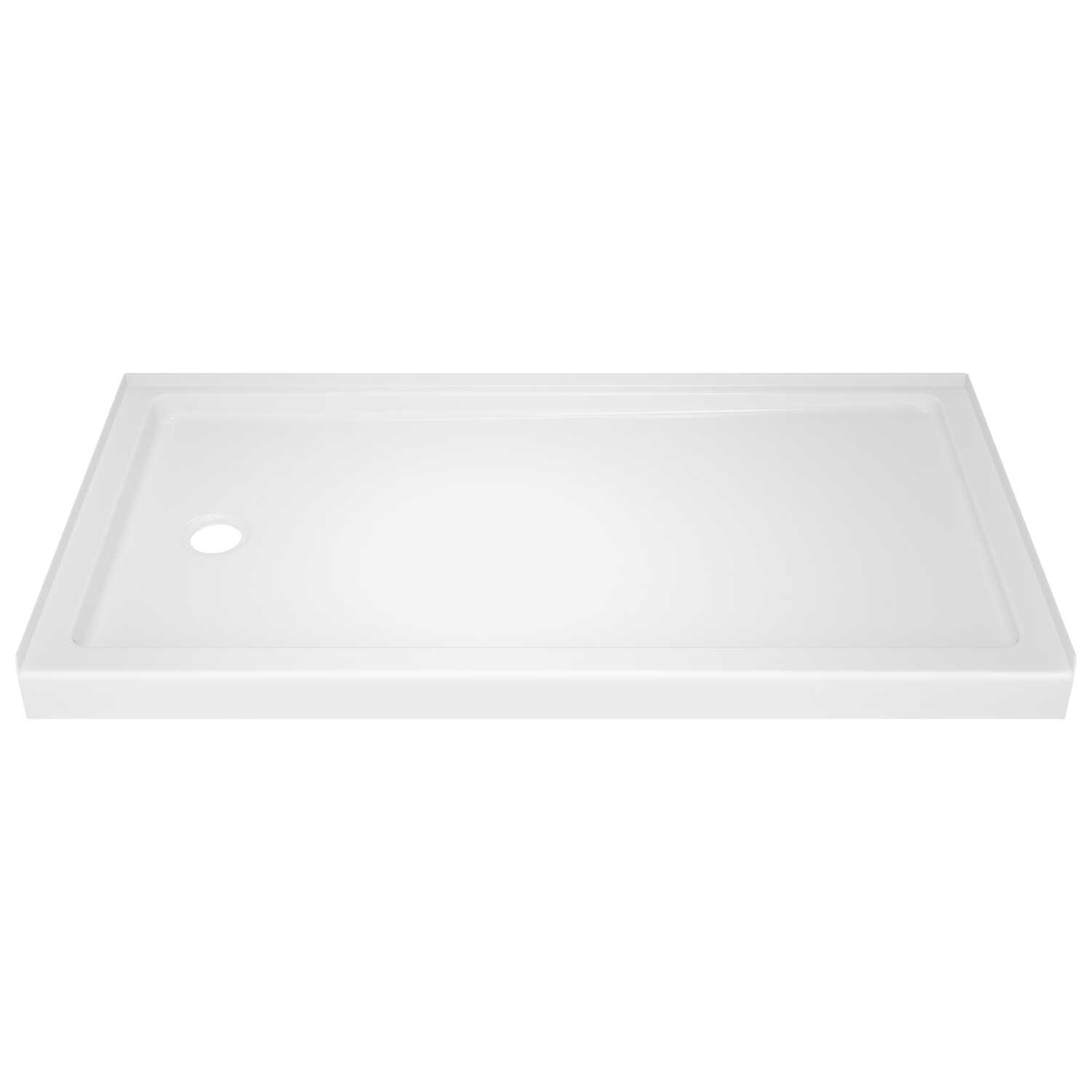 Delta Bathing Systems  Classic  3.5 in. H x 60 in. W x 32 in. L White  Acrylic  Alcove  Shower Base