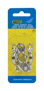 Seachoice  Stainless Steel  1-7/8 in. L x 3/8 in. W Eye Straps  4 pc.